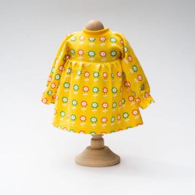 Puppenkleid-Langarm-gelb-fuer-Waldorfpuppe-1