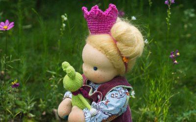 Prinzessinnen Krone häkeln für Puppen und Kinder – gratis Anleitung