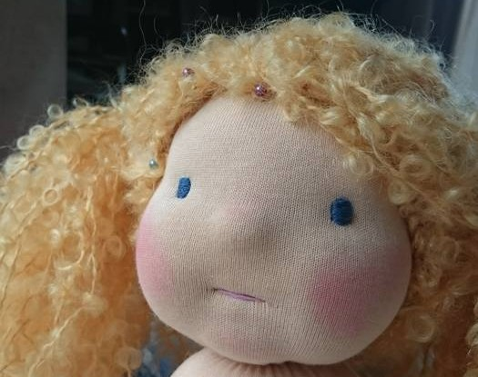 Nadelgefilztes Puppengesicht PuppenMitmacherei 2016