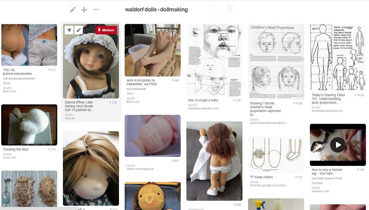 Pins zum Thema einen nadelgefilzten Puppenkopf herstellen