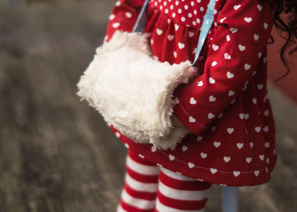 Puppenkind ohne Puppenkleider