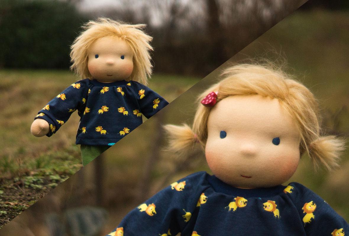 Spielpuppe zum An- und Ausziehen ist die richtige Puppe für dein Kind ab 3 Jahre