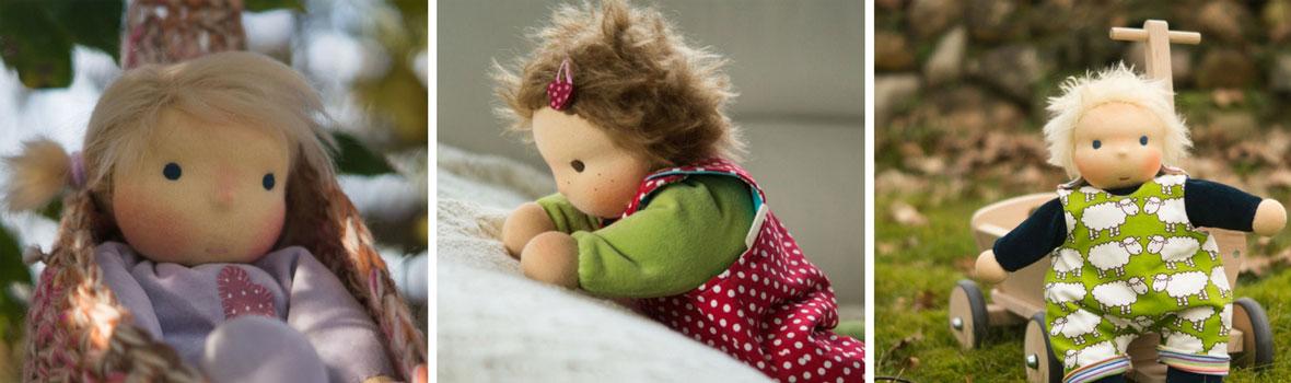 Schmusepuppen aus Stoff sind hervorragende Puppen für Kleinkinder
