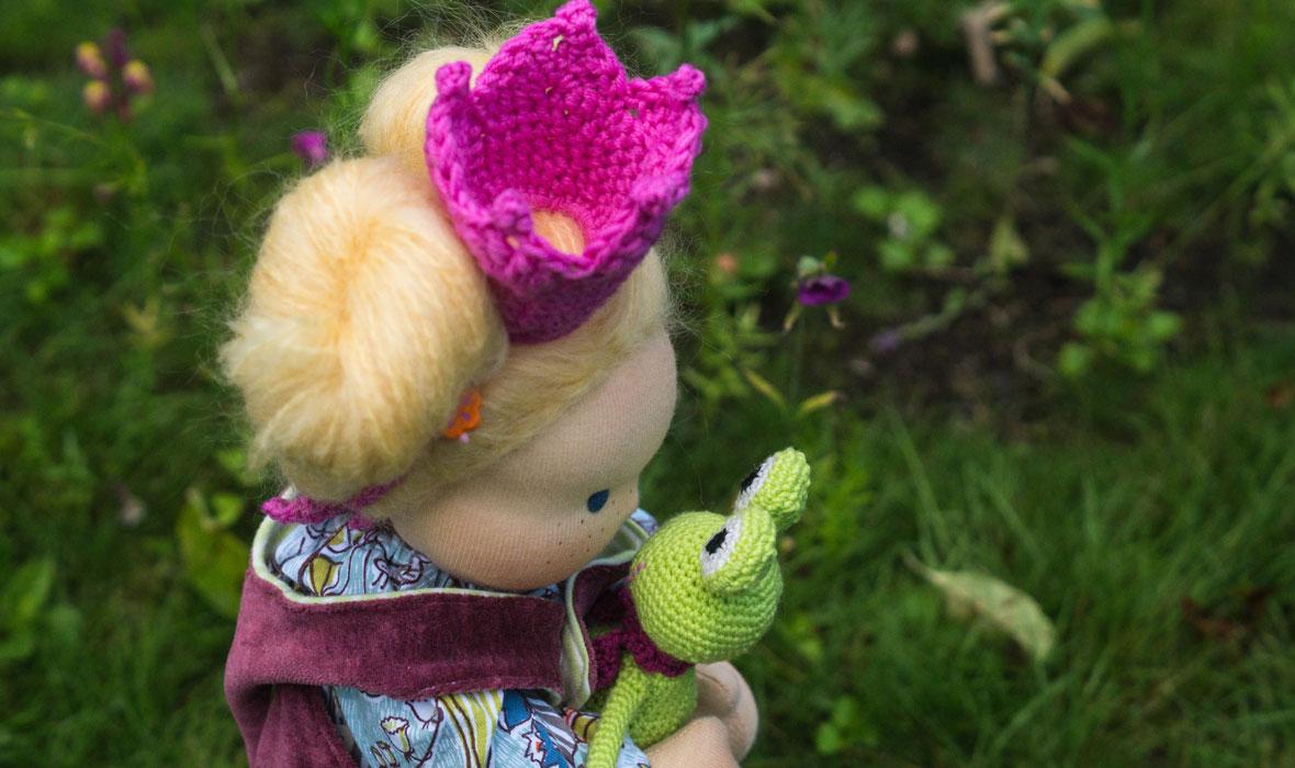 Anleitung Krone häkeln für Puppen und Kinder Waldorfpuppe mit Krone